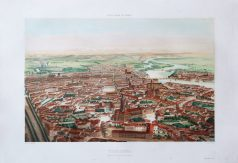 Gravure ancienne - Toulouse - St. Sernin - Voyage Aérien en France