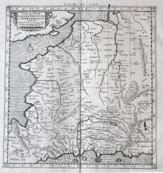 Carte géographique ancienne Ptolémée - Antique map