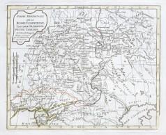 Original antique map - Russie - Gravure ancienne