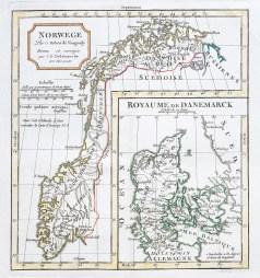 Original antique map - Norvège - Gravure ancienne