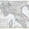 Original antique map - Empire français - Italie