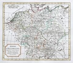 Original antique map - Empire d'Allemagne - Gravure ancienne