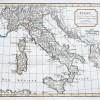 Original antique map - Italie - Gravure ancienne