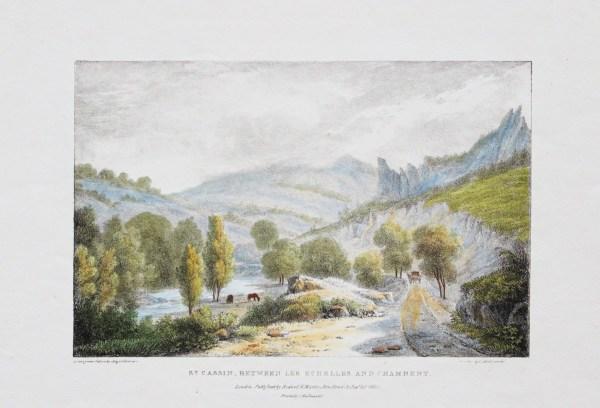 Lithographie ancienne de Chambéry