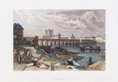 Gravure ancienne de Saumur