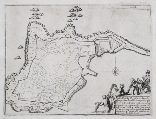 Plan ancien de Saint-Malo