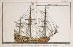 Gravure ancienne - Marine