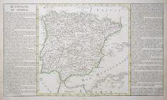 Carte géographique ancienne de l'Espagne - Antique map