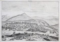 Gravure ancienne de la ville de Chemakha