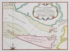 Carte géographique ancienne de la rivière de Cerbera - Sierra Leone
