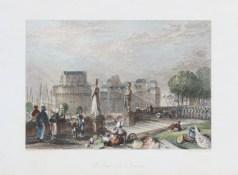 Gravure ancienne du Château de Nantes