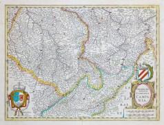 carte géographique ancienne de la champagne