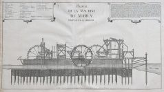 Gravure ancienne - Machine de Marly