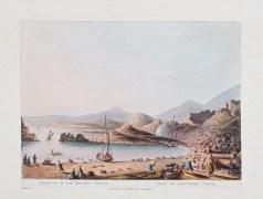 Aquatinte originale - Port de l'ancienne Gnide