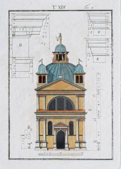 Architecture de Palais italiens - Gravure ancienne