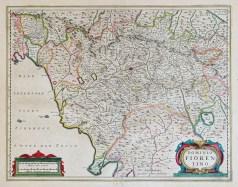 Carte géographique ancienne de Florence