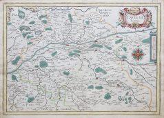 Carte géographique ancienne de la Touraine