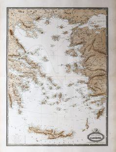 Carte marine ancienne de la mer Egée