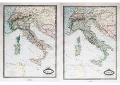 Carte géographique ancienne de l'Italie