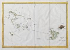 Carte géographique ancienne de Tonga