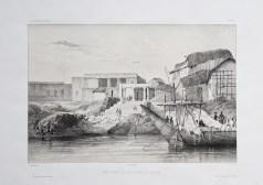 Lithographie ancienne de Calcutta