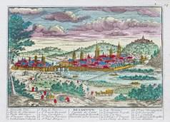 Gravure ancienne de Besançon