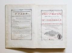 CORNEILLE et Pierre & Thomas - Les chefs d'œuvres dramatiques de Mrs. Corneille