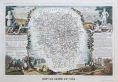 Carte ancienne de la Seine et Oise