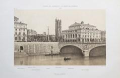 Gravure ancienne de la Place du Châtelet - Pont au Change