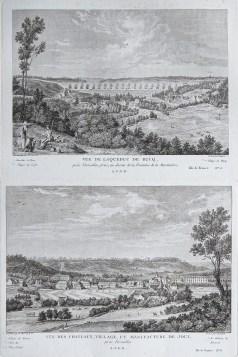 Gravure ancienne de Buc et Jouy en Josas