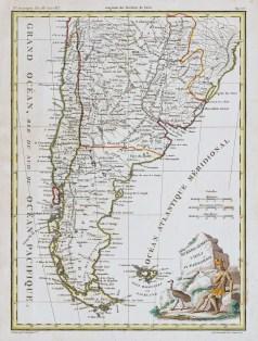 Carte géographique ancienne de l'Amérique du sud