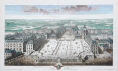 Gravure ancienne du Château de Versailles