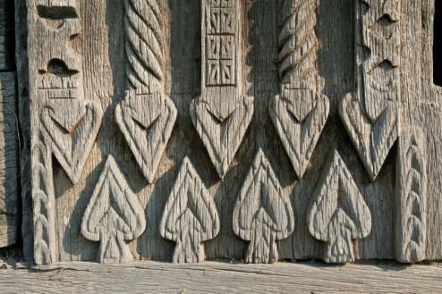 Sculptura in lemn - Biserica de lemn din Bradet