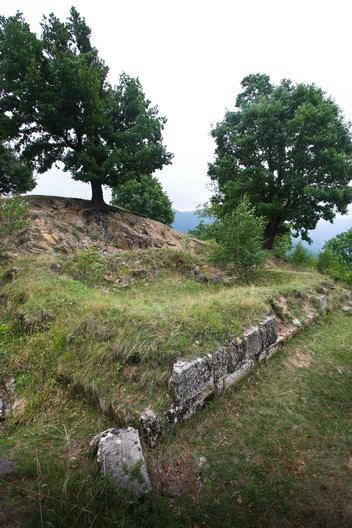 Turnul locuinta - Cetatea dacica de la Capalna