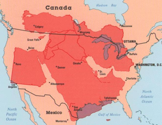 How Big is the Middle East    Cartographia Given the region s importance to U S  national security  it s important to  understand the true size of the Middle East  While you may have heard that  Iraq