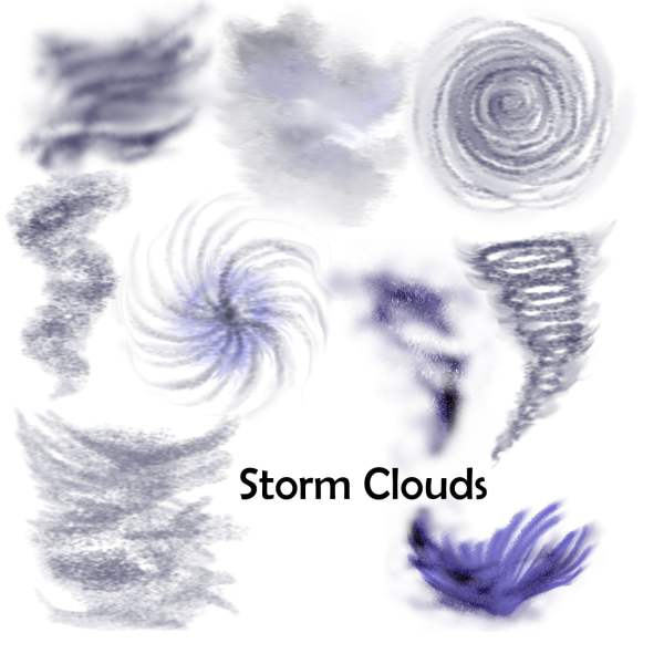 storm clouds overlays weather for virtual tabletop