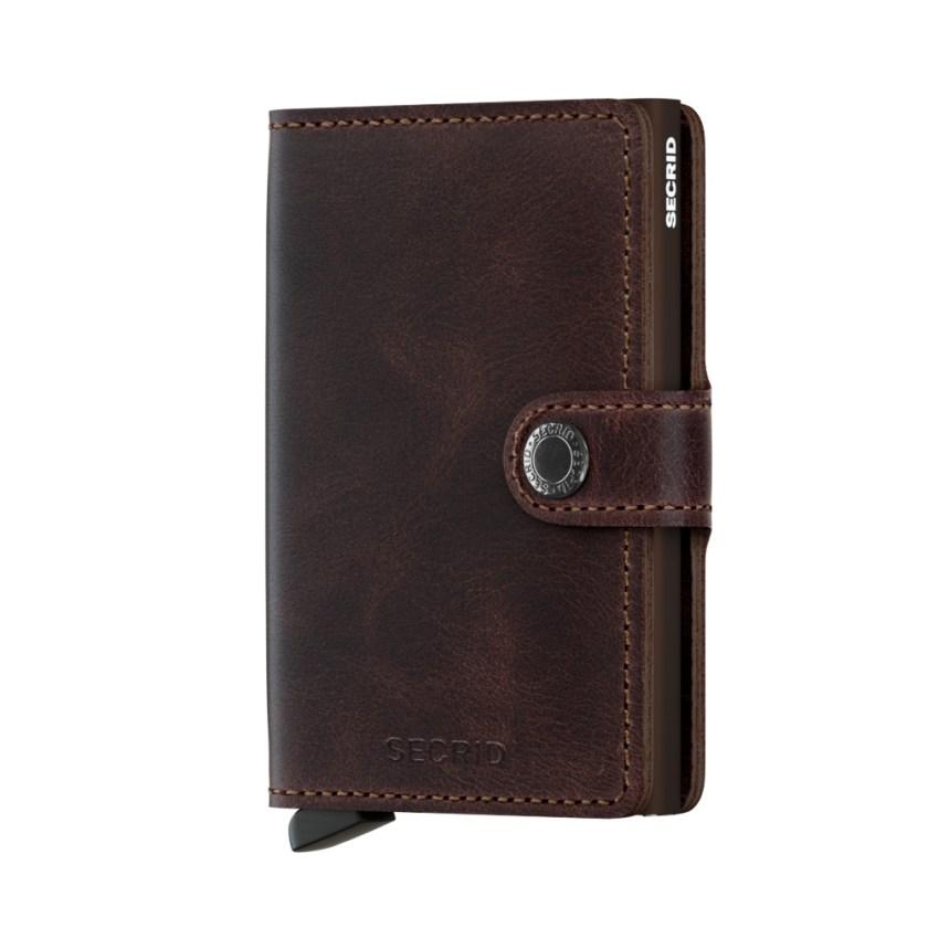 Secrid - Cardprotector - Mini Wallet Vintage - Collezione 2021 - Cioccolato - Cartoleria Rossi Mantova dal 1927