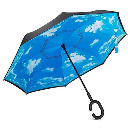 ombrello con nuvole all interno nero fuori