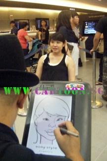 Digital caricature at event