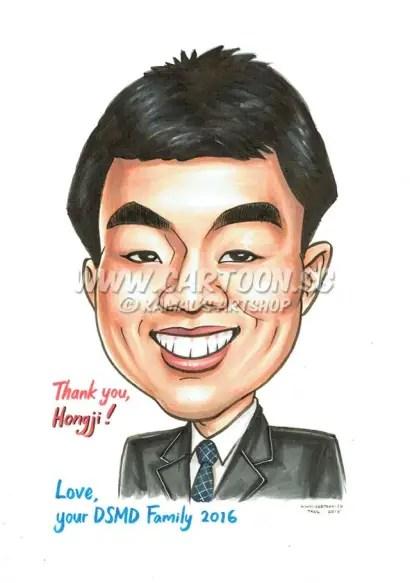 2016-06-17-Caricature-Singapore-mugshot-school-Colleague-Boss-Friend-Farewell