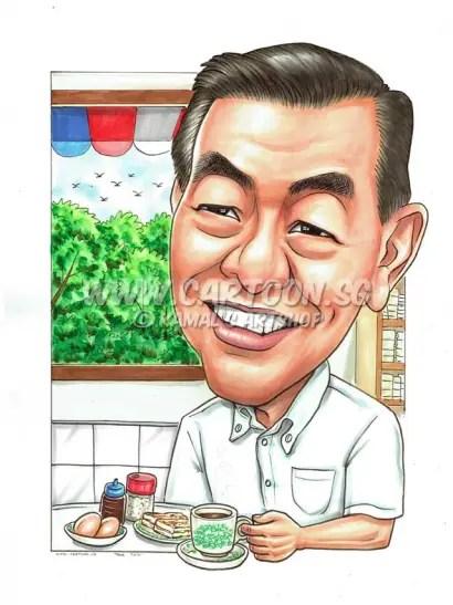 2016-07-12-Caricature-Singapore-coffee-shop-roti-birthday-gift