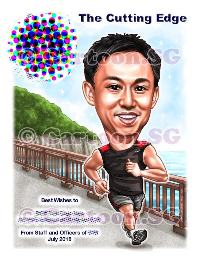 20180522-Caricature-Singapore-digital-jogging-boss-SPF-fit-gift