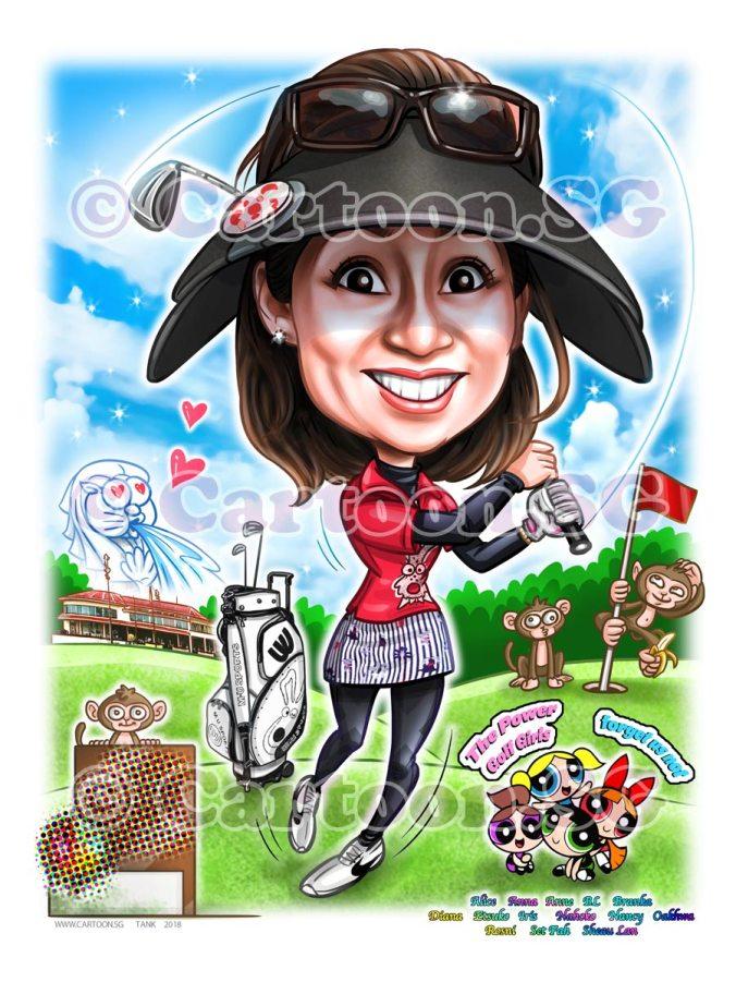 Farewell gift for a golfer friend