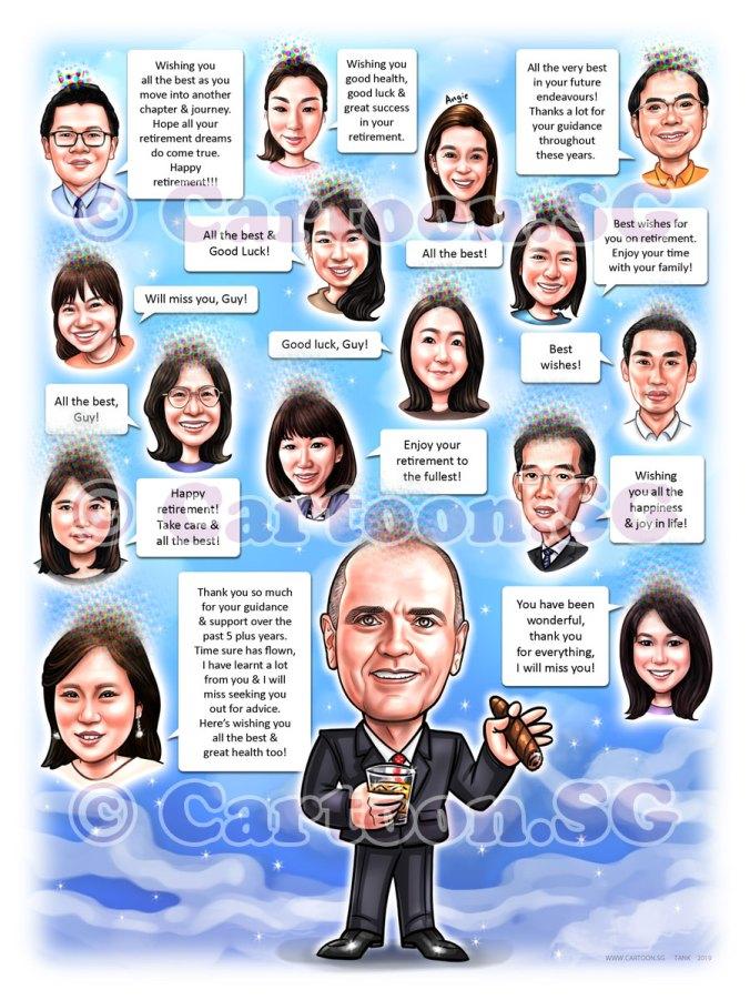 20190228-Caricature-Singapore-digital-group-farewell