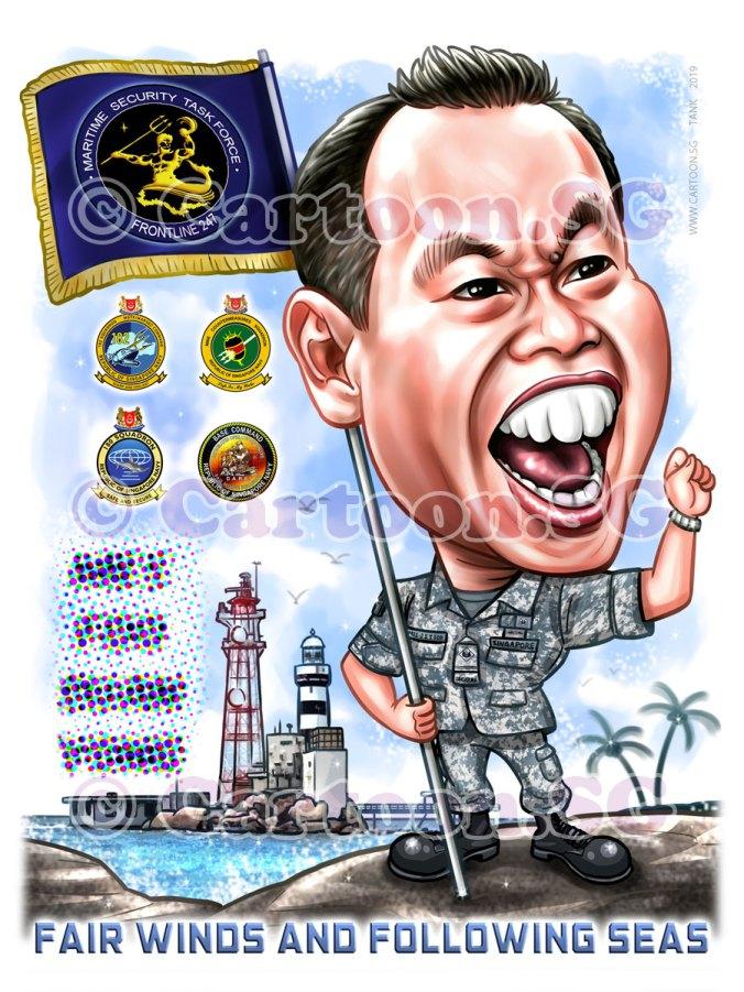20190610-Caricature-Singapore-digital-sea-navy-uniform-light-house-flag
