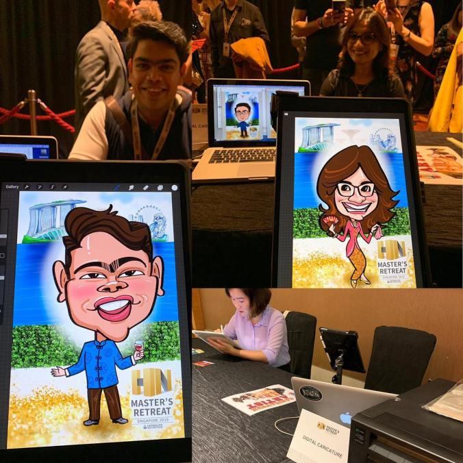 Live Digital Caricature Event