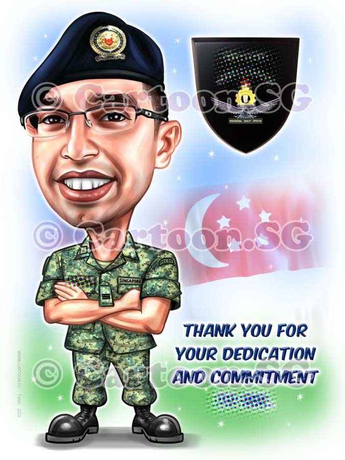 20200123-Caricature-Singapore-digital-farewell-gift-SAF-army