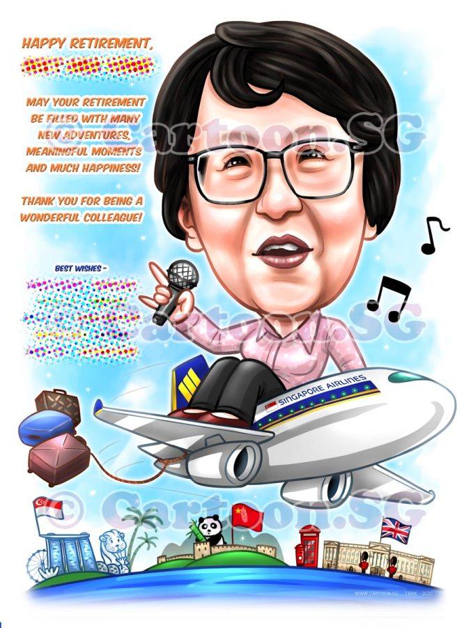 retirement aeroplane singing