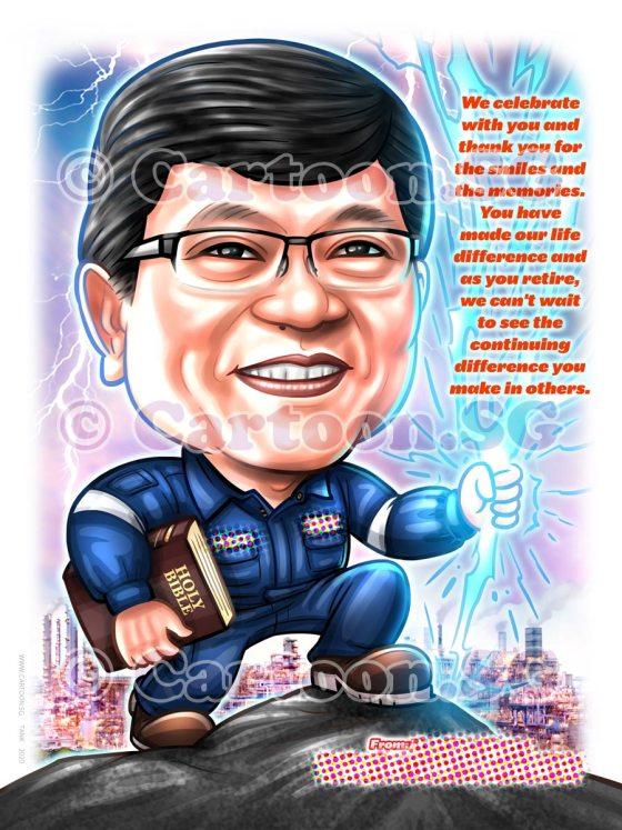 jumper book caricature