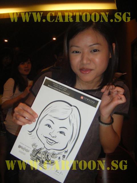 'Live' Drawing Caricature- Temasek Polytechnic Alumni Night